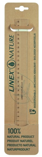 Linex Nature Ruler Biodegradable Bevelled and Tracing Edges 300mm Clear Ref LXON1030