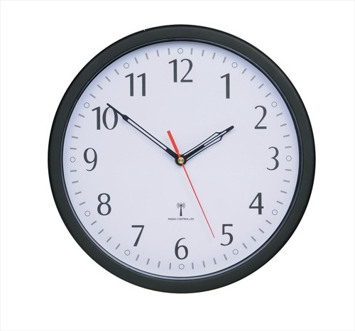 Wall Clock Radio Controlled Diameter 300mm Grey