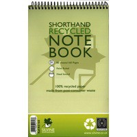 Silvine Spiral Bound Shorthand Pad Recycled 5x8 inches 80 Leaf Code RE160-T