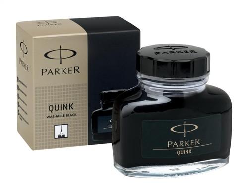 Parker Quink Bottled Ink Washable 57ml Bottle Black Ref S0037450