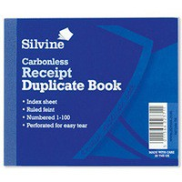 Silvine Carbonless Duplicate Receipt Book Blue 720-P