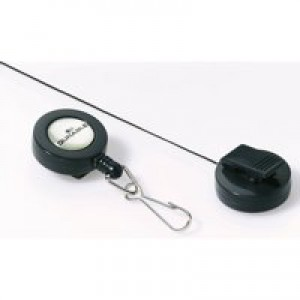 Durable Badge Reel with Spring Snap Fastener 800mm Ref 8221-58 [Pack 10]