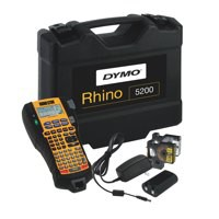 Dymo RhinoPRO 5200 Labelmaker Kit Case with Printer 19mm Tape Batteries and Adaptor Code S0841390