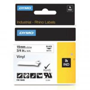 Dymo Rhinopro Industrial Tape 1500 Wt Coloured Vinyl 19mm White Code S0718620