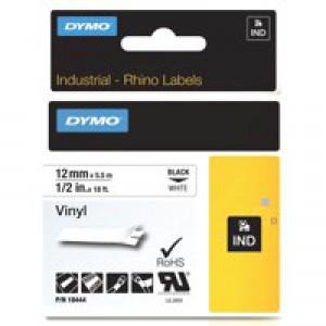 Dymo Rhinopro Industrial Tape 1500 Wt Coloured Vinyl 12mm White Code S0718600