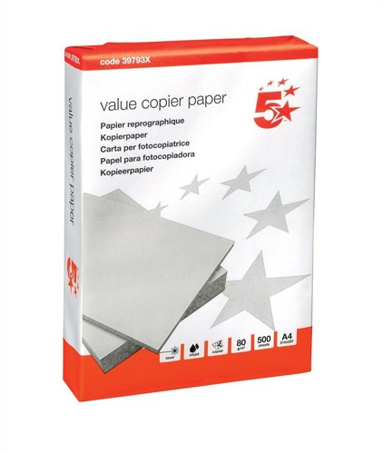 5 Star Value Paper A4 Pack 500 DIRECT 397921