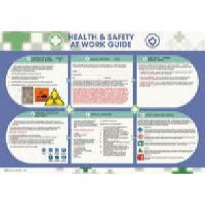 Wallace Cameron Health and Safety At Work Poster Laminated Wall-mountable 590x420mm Code 5405023