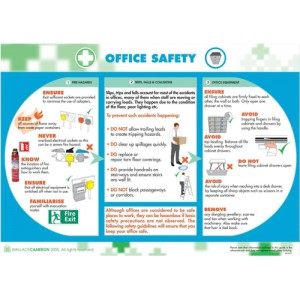 Wallace Cameron Office Safety Poster Laminated Wall-mountable W590xH420mm Ref 5405027