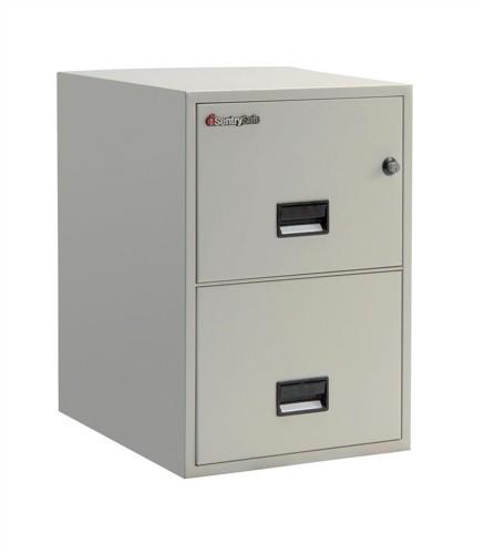 Sentry 2500 Filing Cabinet 1hr Fire Safe 2 Drawers 129kg Grey Ref 2G2510L