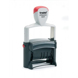 Trodat Professional Line 5117 Self Inking Date Stamp 4mm Characters Black