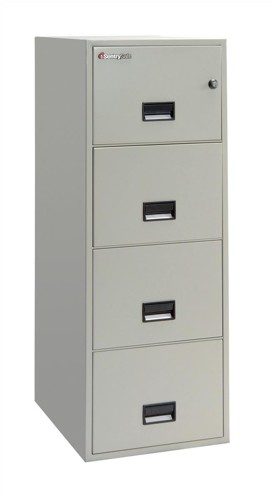 Sentry 5000 Trident Filing Cabinet 1hr Fire Safe 4 Drawers 304kg Grey Ref 4G2530L