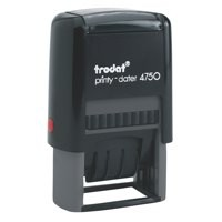 Trodat EcoPrinty 4750/L2 Self Inking PAID & Date Stamp Red/Blue