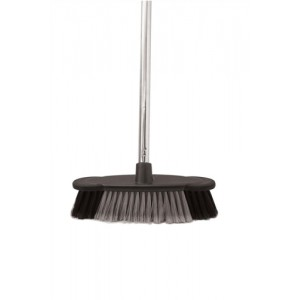 Bentley Soft Bristle Broom Indoor Chrome Handle length: 1.2m Ref HL2801/G/F4