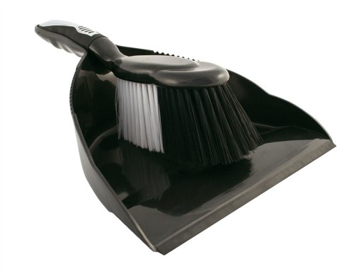 Bentley Dustpan and Brush Set Black and Chrome Ref HL8001/G