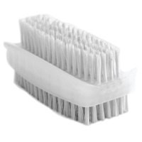 Bentley Nail Brush Double Sided Plasic White Ref KG/CL190/2 [Pack 2]
