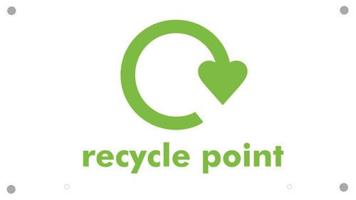 Sseco Recycle Point Board Top Sign Foam PVC for Recycle Hangers 400x225x3mm Ref Env13