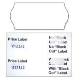 Avery Blackout Lbls White 1line Pk1500