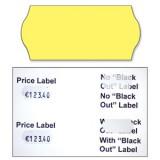 Avery Blackout Lbls Yellow 2line Pk1500
