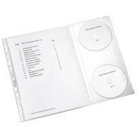 Leitz CD Combo Pocket Pack of 5 Clear 47613003