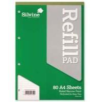 Silvine A4 Rfl Pad 7N F 160Pgs A4Rpnf