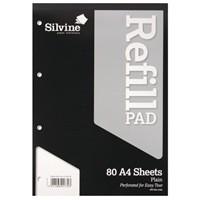 Silvine Refill Pad A4 80 Leaf Plain A4RPP