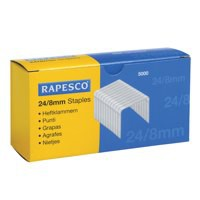 Rapesco Staples 8mm 24/8 Pack of 5000