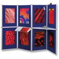 Nobo Pro-Panel Display and Bag 8 Panels Blue Fabric and Dry White Sides 16kg W2020xH3000mm Ref 1901083