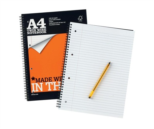 Silvine A4 Perforated Notebooks Code TWPA4