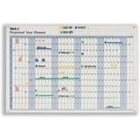 Image for Mark-it Perpetual Year Planner Laminated with Repositionable Date Strips W900xH600mm Ref PYP