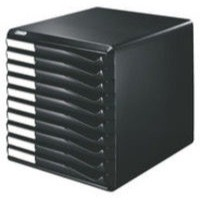 Form Set Filing Unit with 10 Drawers A4 Black