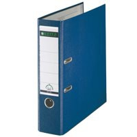 Leitz Lever Arch File Plastic 80mm Spine A4 Blue Ref 10101035 [Pack 10]