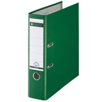 Leitz Lever Arch File Plastic 80mm Spine A4 Green Ref 10101055 [Pack 10]