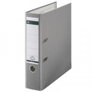 Leitz Lever Arch File Plastic 80mm Spine A4 Grey Ref 10101085 [Pack 10]