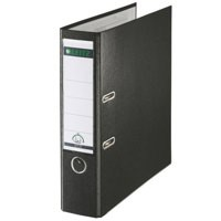 Leitz Lever Arch File Plastic 80mm Spine A4 Black Ref 10101095 [Pack 10]