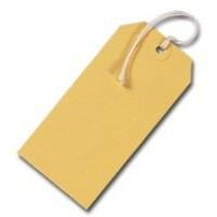 Yellow 120x60mm Strung Tag Pk1000