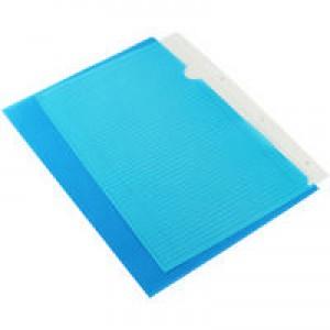Q-Connect A4 Blue Cut Flush Folder Pk100