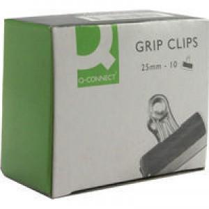 Q-Connect 25mm Black Grip Clip Pk10