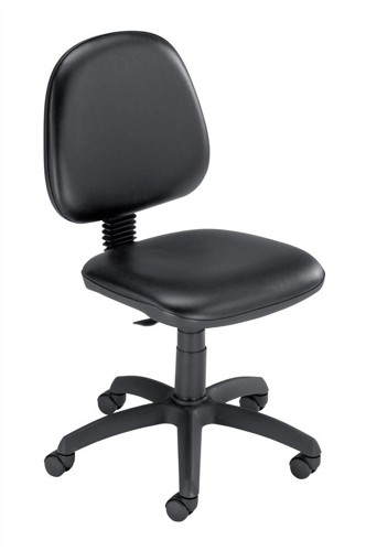 Trexus Operator Chair Vinyl Medium Back H330mm W460xD430xH480-610mm Black