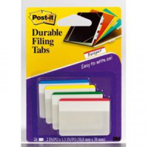 3M Post-it Strong Filing Tabs Pack 24 Assorted Code 686-F1