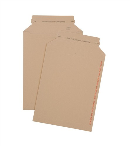 Envelope Brown Card Dual Seal System 450gsm A4 [Pack 25]