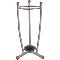 Image for Umbrella Stand Removable Drip Tray Metal Finish Wood Trim 15 Umbrellas 1.1kg