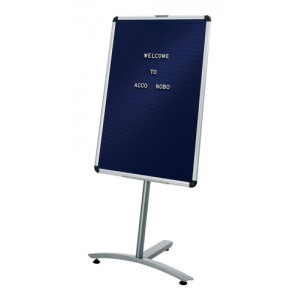 Nobo Welcome Foyer Board with Characters Aluminium Frame 600x900mm Blue Code 1901924