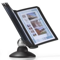 Durable Sherpa Motion Display Unit Rotating with 10 Panels 10 Tabs Black Ref 5587/01