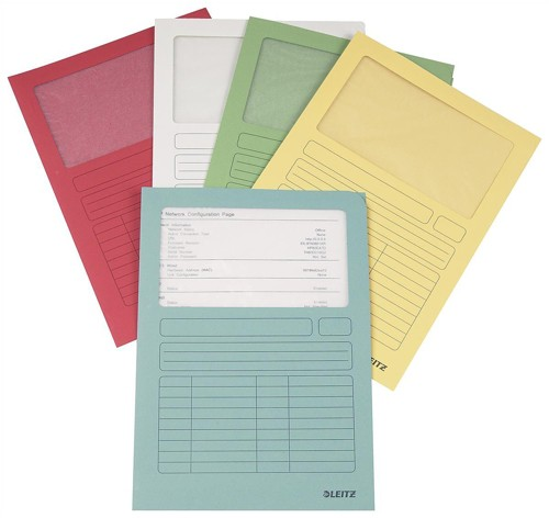 Leitz Window Folder A4 140gsm Assorted Pack 100