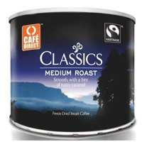 Cafe Direct Classics Instant Coffee Fairtrade Medium Roast Tin 500g Code A02900