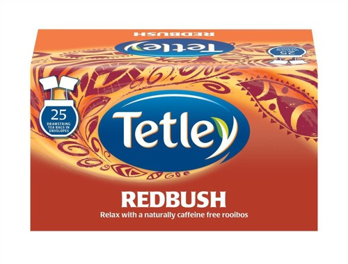 Tetley Redbush Tea Envelopes Individually Wrapped Ref 1283Y [Pack 25]