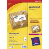 Avery Weatherproof Shipping Labels Laser 10 per Sheet 99.1x57mm White Ref L7992-25 [250 Labels]