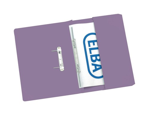 Elba Stratford Transfer Spring File Recycled Pocket 315gsm 32mm Foolscap Mauve Ref 100090277 [Pack 25]