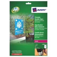 Avery Durable Sign Self Adhesive 2 per Sheet 190x135mm Ref L7090-10 [20 Signs]