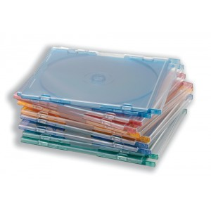 CD Case Slimline Jewel for 1 Disk W125xD5xH124mm Assorted [Pack 100]